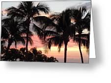 Big Island Sunset 1 Greeting Card