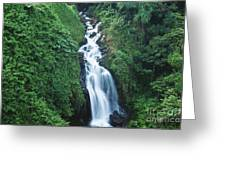 Big Island Watefall Greeting Card