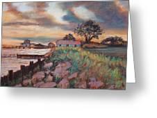 Big Lake Sunset Greeting Card