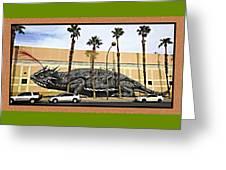 Big Lizard Greeting Card