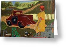 Big Mama Red Truck Greeting Card