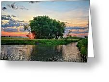 Big Marsh Sun Greeting Card