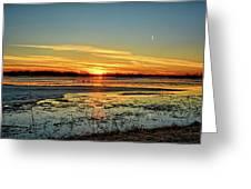 Big Marsh Sunset 2 Greeting Card