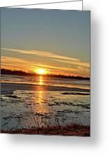 Big Marsh Sunset 4 Greeting Card