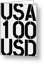 Big Money 100 Usd Greeting Card