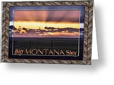 Big Montana Sky Greeting Card