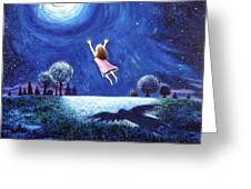'big Moon Hug' Greeting Card