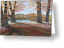 Big Oaks In Fall Greeting Card