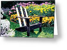 Big Old Chair Evening Light Greeting Card by David Lloyd Glover