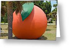 Big Orange At Melbourne On The East Coast Of Florida Greeting Card