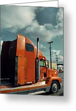 Big Orange Truck Greeting Card