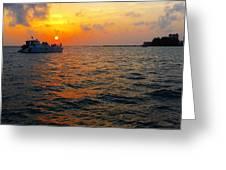 Big Pass Sunset Sarasota Florida Greeting Card