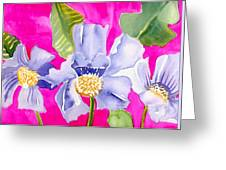 Big Pink  Flowers Greeting Card
