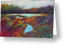 Big Pond In Fall Mc Cormick Woods Greeting Card