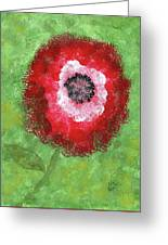 Big Red Flower Greeting Card