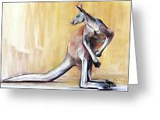 Big Red  Kangaroo Greeting Card