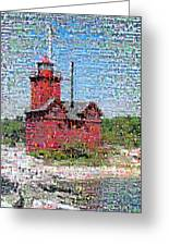 Big Red Photomosaic Greeting Card