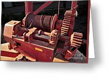 Big Red Winch Greeting Card
