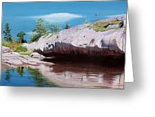 Big River Rock Greeting Card