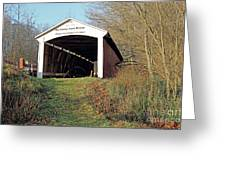 Big Rocky Fork Bridge Indiana Greeting Card