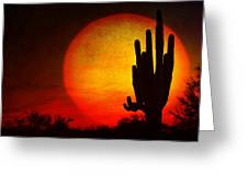 Big Saguaro Sunset Greeting Card
