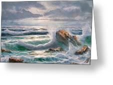 Big Seastorm - Italy Greeting Card