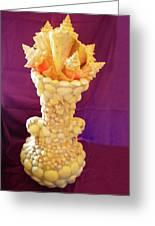 Big Shell Vase Greeting Card by Arlin Jules