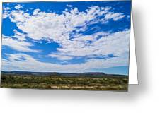 Big Sky In Pecos Valley Greeting Card