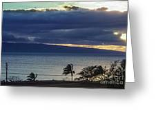 Over Molokai Greeting Card