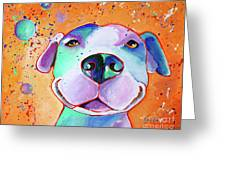 Big Smile - Dog Art By Valentina Miletic Greeting Card