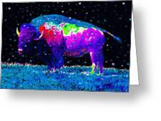 Big Snow Buffalo Greeting Card