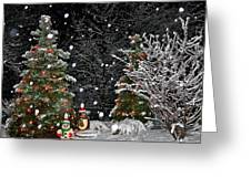 Big Snow Flakes    Holiday Card 6 Greeting Card