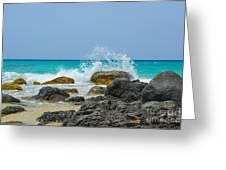 Big Splash On Rocks Of Playa Brava Greeting Card