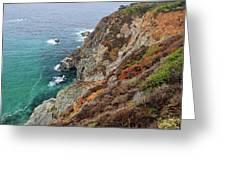 Big Sur Colorful Sea Cliffs Greeting Card