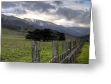 Big Sur Fence Line Greeting Card