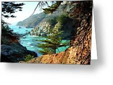 Big Sur Vista Greeting Card by Charlene Mitchell