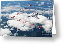 Big V Formation Greeting Card