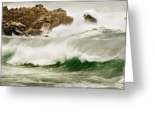 Big Waves Comin In Greeting Card