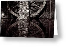 Big Wheel In Bw Greeting Card