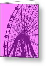 Big Wheel Purple Greeting Card