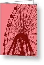 Big Wheel Red Greeting Card