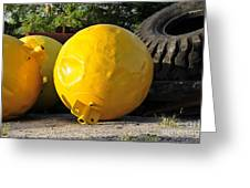 Big Yellow Balls Greeting Card
