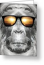Bigfoot In Shades Greeting Card