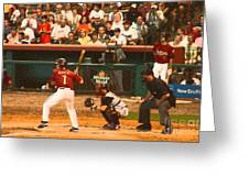 Biggio At Bat Houston Astros Greeting Card
