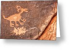 Bighorn Petroglyph Greeting Card