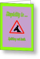 Spitting Bigstock Donkey 171252860 Greeting Card