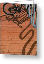Bike And Bricks No.2 Greeting Card