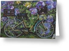 Bike And Bush Greeting Card