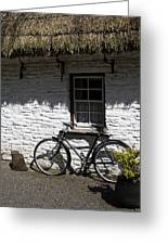 Bike At The Window County Clare Ireland Greeting Card