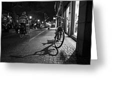 Bike Between Lights And Shadows, Netherlands Greeting Card